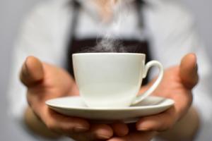 カフェでコーヒーを注文