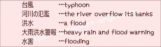 台風関連 英語 単語