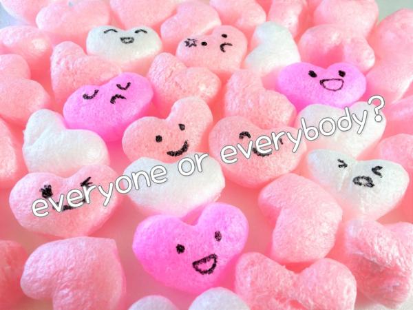 everyone と everybody