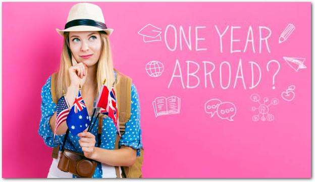 英語圏での1年留学を検討している女性